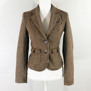 American Eagle Outfitters houndstooth wool jacket